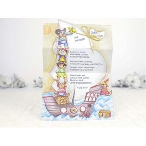 Invitatie de botez cu pirati 15511 DELUXE