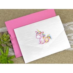 Invitatie de botez cu unicorn 15611 DELUXE