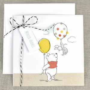 Invitatie de botez cu Winnie the Pooh 15724 DELUXE