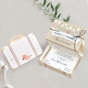 Invitatie servieta cu flori 39719 CLARA
