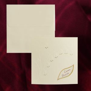 Invitatie eleganta cu lacramioara 160003 TBZ