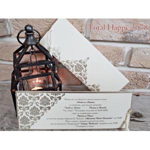 Invitatie de nunta eleganta 3678 SEDEF