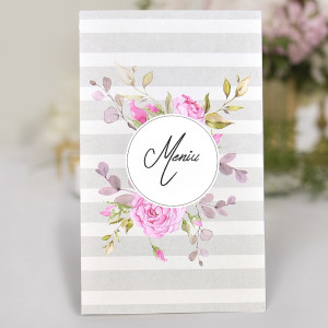 Meniu cu trandafiri roz 3740 CLARA