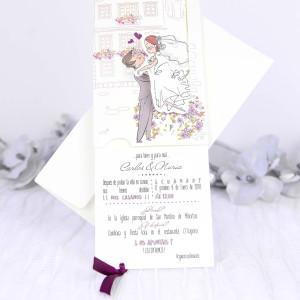 Invitatie de nunta romantica 39230 CLARA