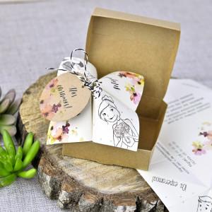 Invitatie 3D tip cutie cu tema florala 39310 EMMA