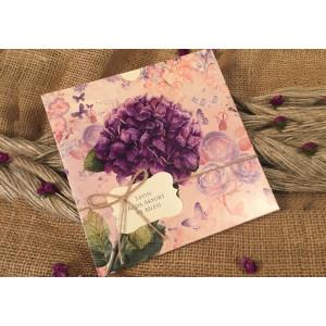 Invitatie cu flori 52520 ELA