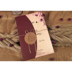 Invitatie cu model floral 52569 ELA