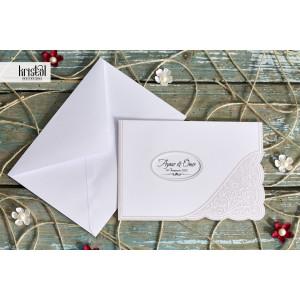 Invitatie de nunta eleganta florala 70286 KRISTAL