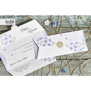 Invitatie de nunta florala plic 70319 KRISTAL