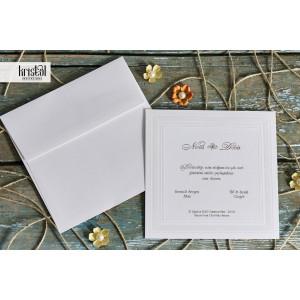 Invitatie de nunta clasica cu chenar 70784 KRISTAL