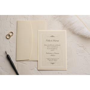 Invitatie de nunta clasica cu plic crem 9132 EKONOM