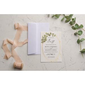 Invitatie de nunta cu frunze 9205 EKONOM