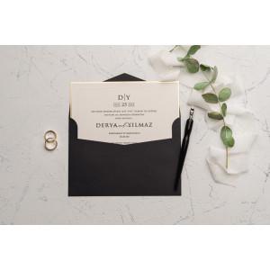 Invitatie de nunta cu margini aurii 9234 EKONOM