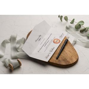 Invitatie de nunta cu pecete 9241 EKONOM