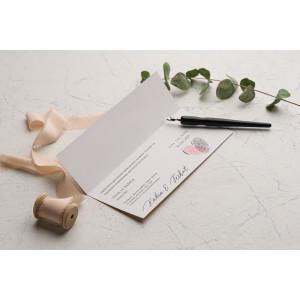 Invitatie de nunta cu amprente 9242 EKONOM