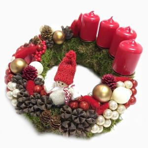 Aranjament Coronita pentru Advent cu 4 lumanari DEC110