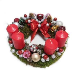 Aranjament Coronita pentru Advent cu 4 lumanari DEC142