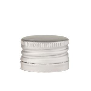 Capac aluminiu prefiletat D 28*18 mm argintiu