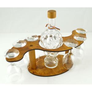 Suport din lemn pentru sticla si pahare ES3497