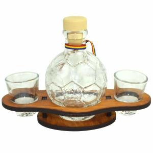 Suport din lemn pentru sticla si pahare Minge ES6794