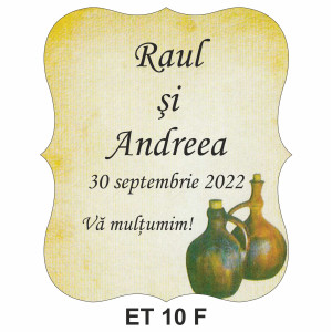 Eticheta pentru sticla ET 10 F