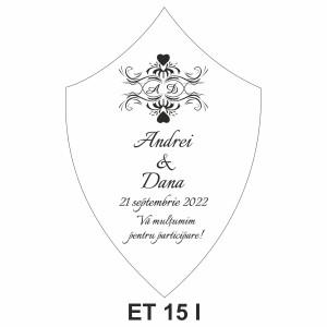 Eticheta pentru sticla ET 15 I