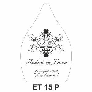 Eticheta pentru sticla ET 15 P