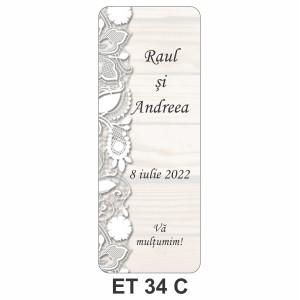 Eticheta pentru sticla ET 34 C