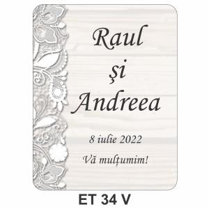 Eticheta pentru sticla ET 34 V