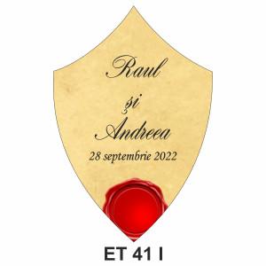 Eticheta pentru sticla ET 41