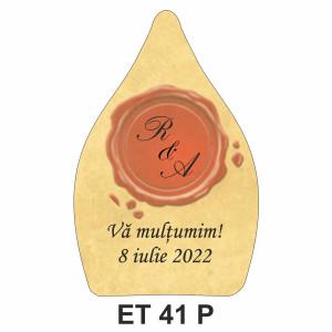Eticheta pentru sticla ET 41 P