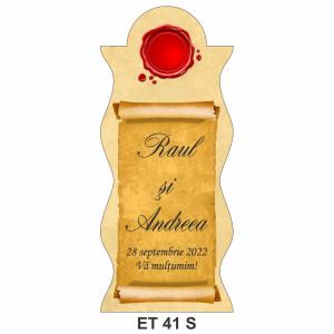 Eticheta pentru sticla ET 41 S