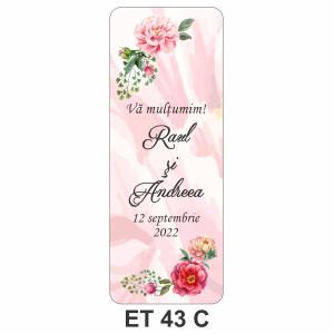 Eticheta pentru sticla ET 43 C
