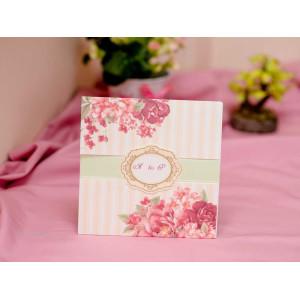 Invitatie de nunta boema cu flori 419 PUBLISERV