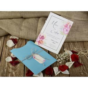 Invitatie cu tema florala 16216 ARMONI