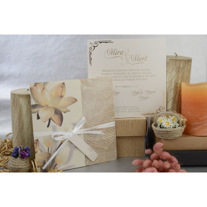Invitatie florala cu snur 17008 ARMONI
