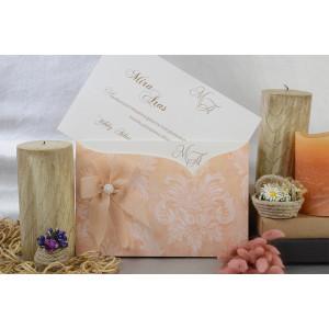 Invitatie glam cu fundita si perla 17065 ARMONI