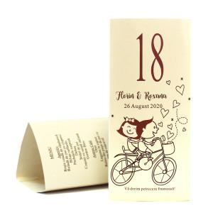 MT95 Crem - Meniu triunghiular cu miri pe bicicleta