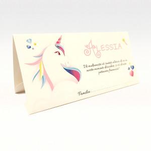 Plic pentru bani cu unicorn colorat PB88 - Crem