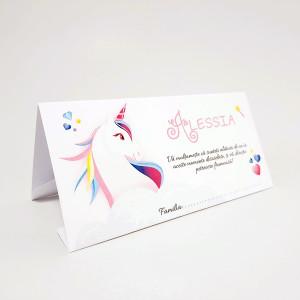 Plic pentru bani cu unicorn colorat PB88 - Alb