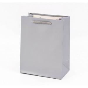 Punga cadouri cartonata 23x18x10 cm argintie PNG056