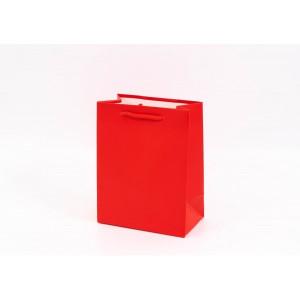 Punga cadouri cartonata 18x14x8 cm rosie PNG058