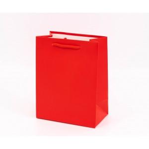 Punga cadouri cartonata 23x18x10 cm rosie PNG059