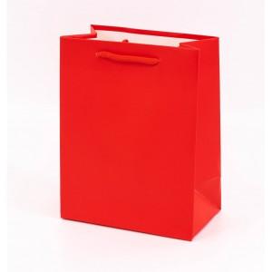 Punga cadouri cartonata 32x26x12 cm rosie PNG060