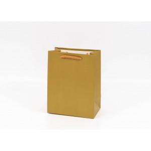 Punga cadouri cartonata 18x14x8 cm aurie PNG061