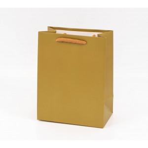 Punga cadouri cartonata 23x18x10 cm aurie PNG062