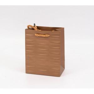 Punga cadouri cartonata 15x12x7 cm cu dungi aurie PNG076