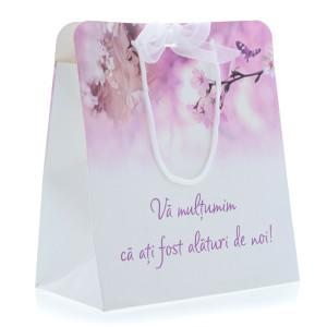 Punga nunta PREMIUM model floral mov cu miri PT 18