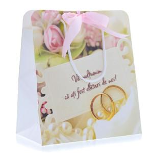 Punga nunta PREMIUM romantica cu verighete PT 20