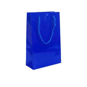 Punga cadouri plastifiata B medie albastra